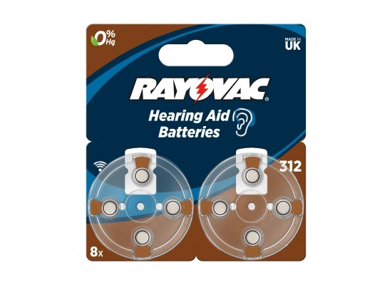 Rayovac 8Pcs Hearing Aid Batteries (312 Blister)