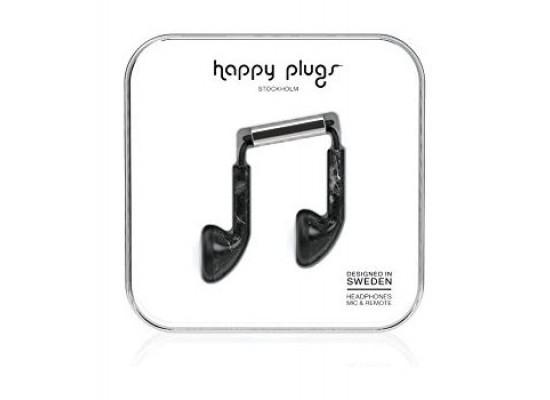 Happy Plugs Marble Edition Wired EarPlug Headset - Nero St Laurent Black