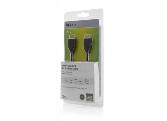 Belkin 3M HDMI Audio Video Cable - Black (F3Y017CP3M-BLK)