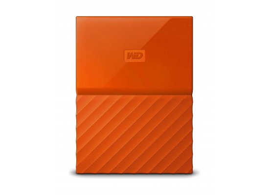 WD 2TB My Passport USB 3.0 External Hard Drive - Orange