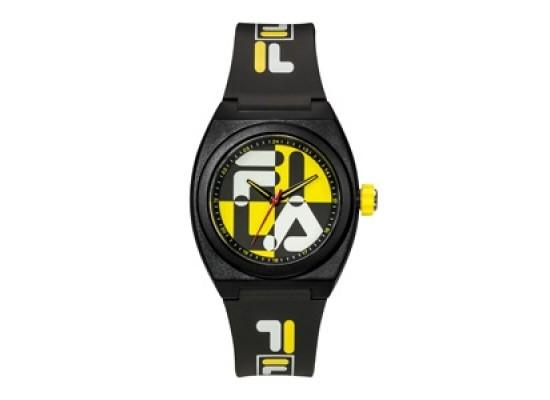 Fila 42mm Unisex Analogue Rubber Fashion Watch (38180103) - Black/Yellow