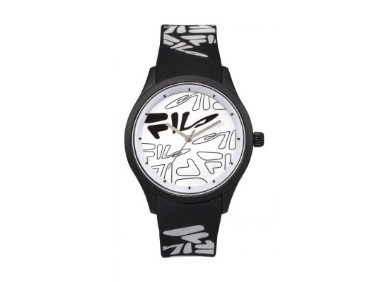 Fila 47mm Unisex Analogue Rubber Sports Watch (38129205) - Black