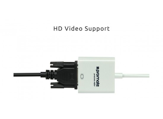 Promate ProLink HDMI To VGA Adaptor (H2V) – White