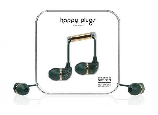 Happy Plugs Marble Edition Wired In-Ear Headset - Jade Green