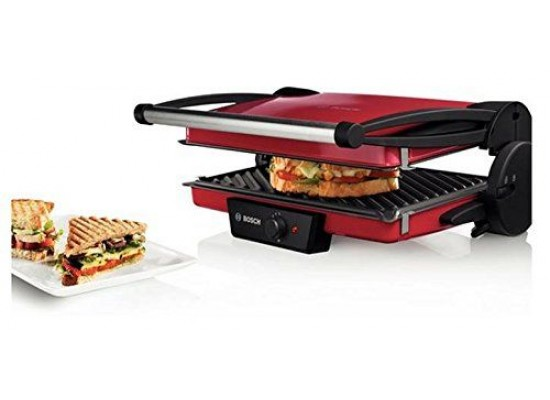 Bosch Electric Contact Grill 1800W - Red TFB4402