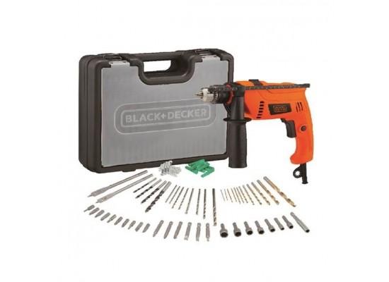 Black+Decker Hammer Drill 650W Kit - (HD650KIT-B5)