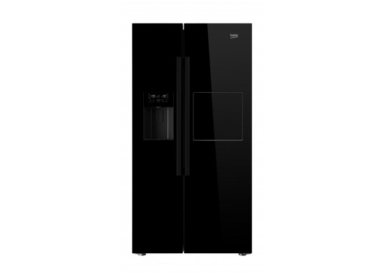 Beko 24 Cft Side by Side Refrigerator (GN168421WB) – Black