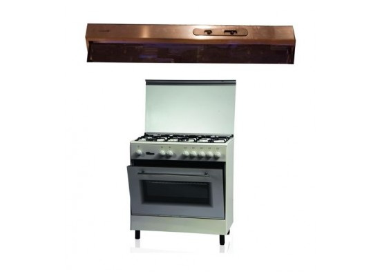 Wansa 80x50 Cooker Stainless Steel + Lagermania 80cm Undercabinet Cooker Hood