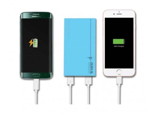 Promate Cloy-8 Premium Dual USB 8000mAh Power Bank - Blue