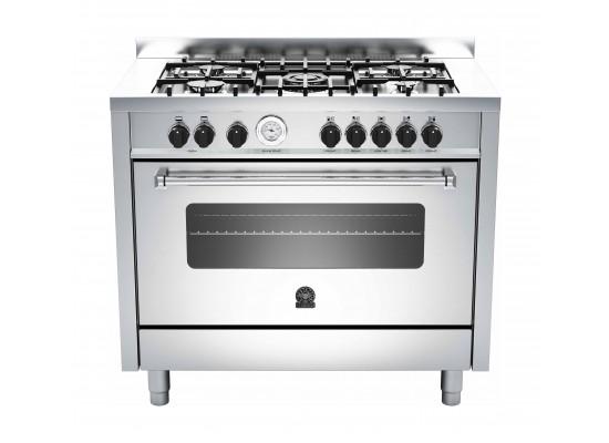 La Germania 100x60 cm 5-Burner Free-Standing Gas Cooker (AMS105C81BX) - Stainless Steel