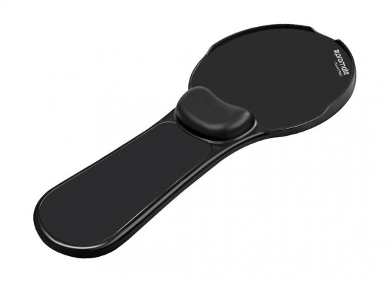 Promate Ergonomic Mountable Mouse Pad with 180° Rotatable Armrest Support - Black