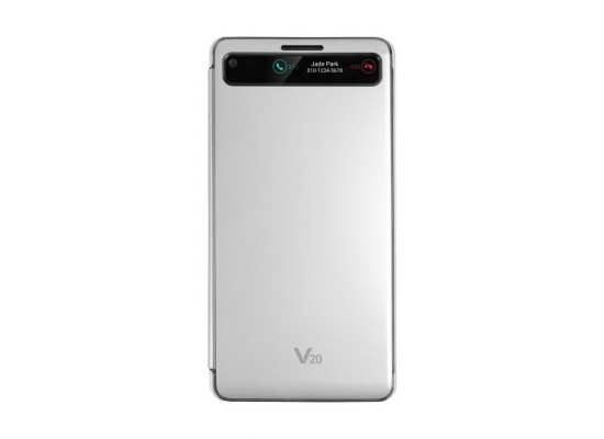 LG V20 Quick Protective Cover (CFV-260) - Silver | Xcite Alghanim