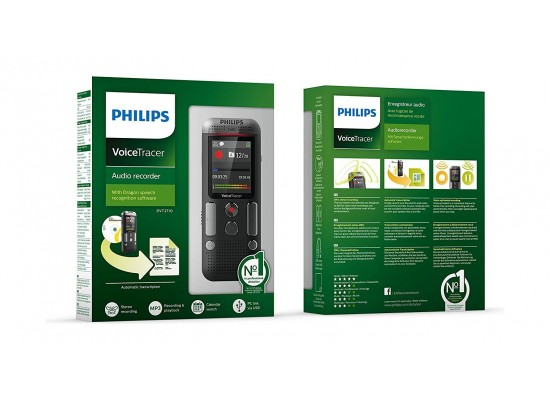 Philips DVT2710 8GB Voice Recorder - Black