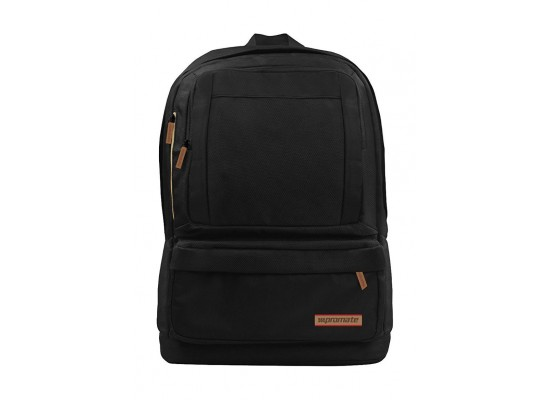 Promate Drake Lightweight Backpack For Laptops Up To 15.6-inch - Black