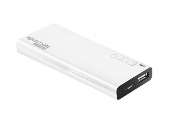 Promate ENERGI-6 6000 mAh Power Bank - White