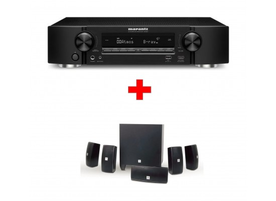 cfa801b77cec3 JBL Cinema 610 5.1-Channel Home Theater Speaker System + Marantz NR1607  7.2-Channel Network A V Receiver