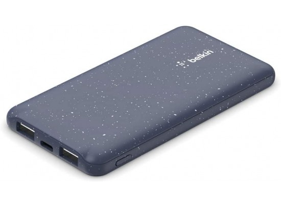 Belkin Power Bank 10,000 mAh 2 Port USB-C&A - Speckled Blue