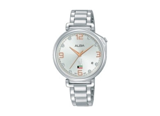 Alba 34mm Analog Ladies Metal Watch Kuwait Flag - AG8J87X1