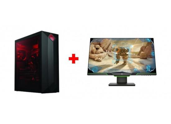 HP 27-inch QHD Gaming Monitor - 3WL54AA + HP OMEN Obelisk 8GB GTX1080 Core  i7 32GB RAM 3TB HDD + 512 GB SSD Gaming Desktop - 875-0000NE
