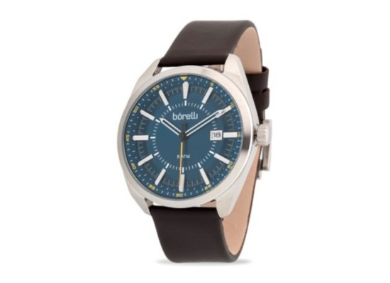 Borelli 44mm Gent's Leather Analog Watch - (20053472)