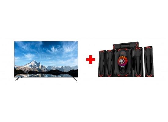 Haier 50-inch UHD 4K Smart LED TV - LE50K6600UG + Wansa 5.1Ch 130W FM USB Mini Multimedia System (TK-903)