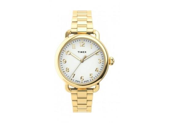 Timex 34mm Casual Ladies Analog Metal Watch - (TW2U13900) - Gold