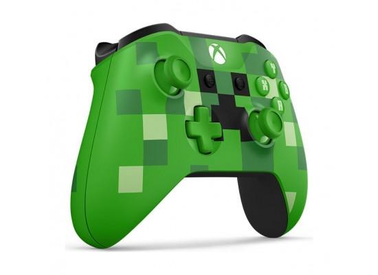 Microsoft Xbox One Minecraft Creeper Wireless Controller (WL3-00057) - Left View