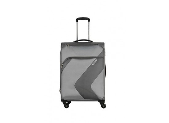 American Tourister Stanford 55CM Spinner Soft Luggage (FC3X41004) - Grey