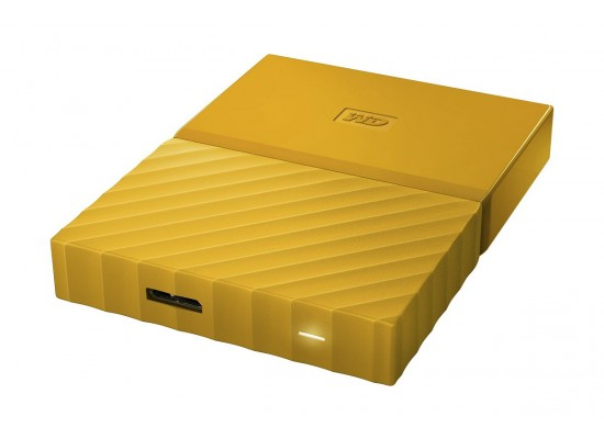 WD 1TB My Passport USB 3.0 External Hard Drive - Yellow