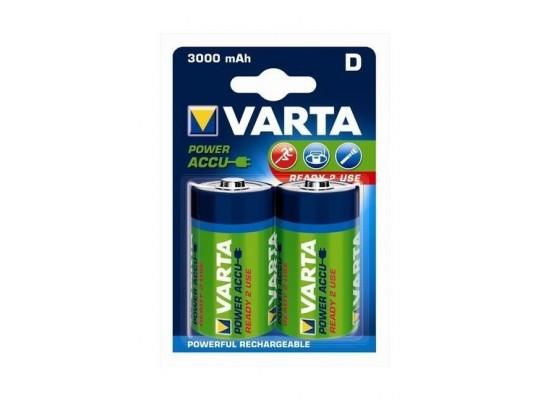 Varta Rechargeable ACCU 2D Nickel-Metal Battery 3000 mAh