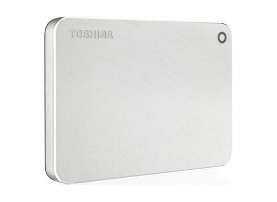 Toshiba 1TB Canvio Premium Portable Hard Drive (HDTW110EC3AA) - Metal Silver