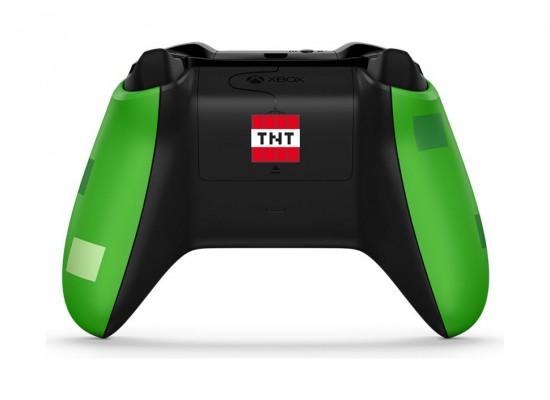 Microsoft Xbox One Minecraft Creeper Wireless Controller (WL3-00057) - Back View