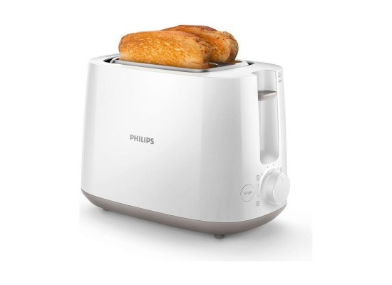 Philips Daily Collection 2 Slot Toaster 830W (HD2581/01) - White