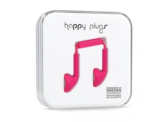 Happy Plugs Earbud Wired Earphones (HP-7709) - Cerise PInk