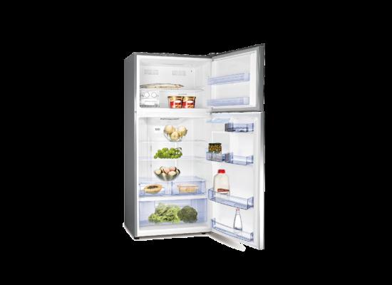Hisense 23CFT Top Mount Refrigerator (RT650NAIS) - Stainless Steel