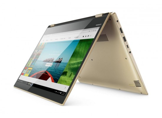 Lenovo Yoga 520 Core i7 16GB RAM 1TB HDD + 128GB SSD 2GB nVidia 14-inch Convertible Laptop - Gold