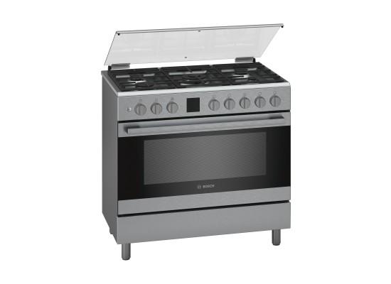 Bosch 90X60 CM 5 Burner Gas Cooker (HGK90VQ50M) - Stainless Steel