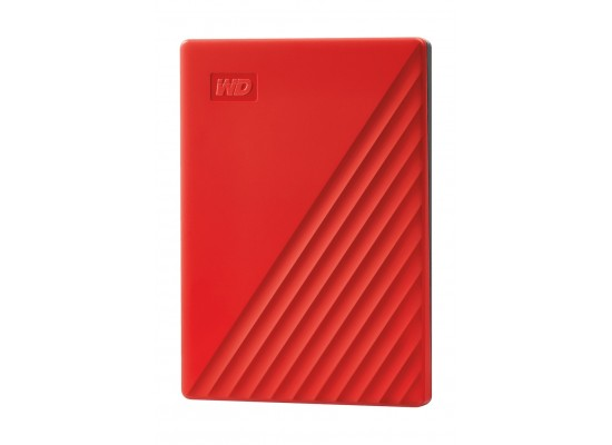 Western Digital My Passport 4TB Portable HDD - Red