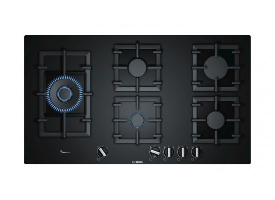 Bosch 90CM Hard Glass Gas Cooking Hob (PPS9A6B90M) - Stainless Steel