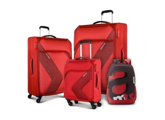American Tourister Stanfordd Luggage Set + Backpack - Red