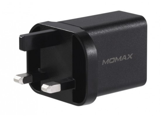 Momax One Plug 2 Ports PD + QC 3.0 USB Fast Charger (UM13UKD) - Black