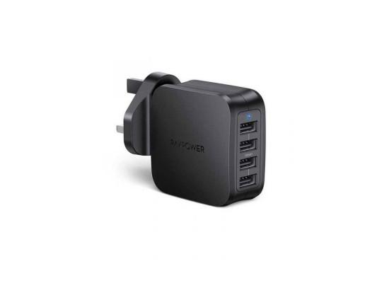 RAVPower 40W, 4 USB Ports Wall Charger (RP-PC101BK) - Black