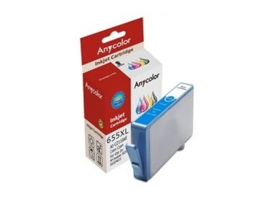 AnyColor 655XL High Yield Ink Cartridge - Cyan 2