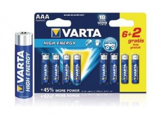 Varta 6 + 2 AAA Alkaline Battery