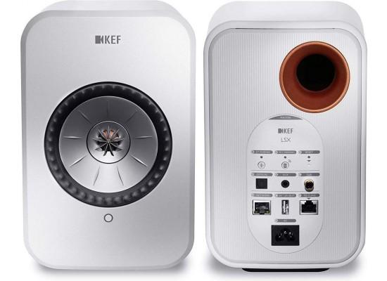 KEF LSX 100W Wireless Bluetooth Music System - White