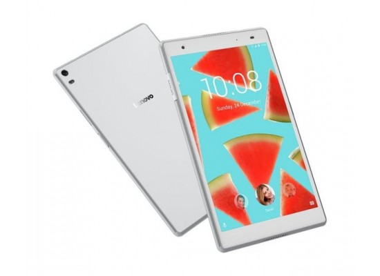 Lenovo Tab4 TB-8504 16 GB Tablet White - Front & Back View 1
