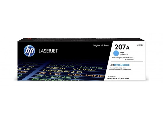 HP W2211A 207A Original LaserJet Toner Cartridge - Cyan