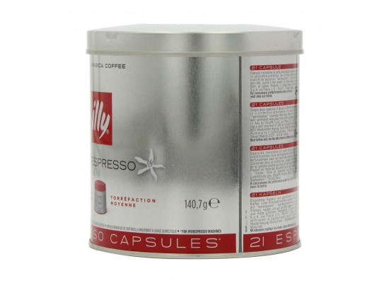 Illy Espresso Medium Roast Coffee Pods 21 Servings – Red