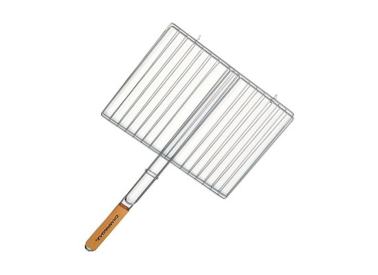 Rectangle Double Grid Single Wooden Handle