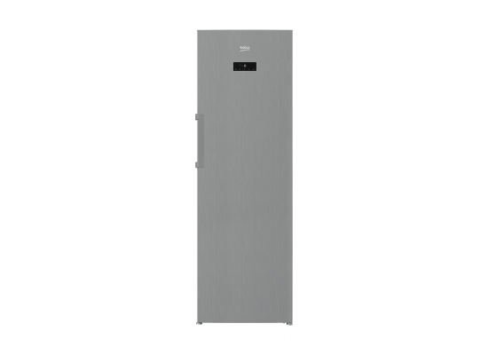 Beko 12CFT 350L, Antifinger Inox Upright Freezer (RFNE350E23X) - Silver